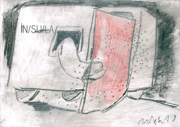 Christian Ulrich, Zeichnung, Insula