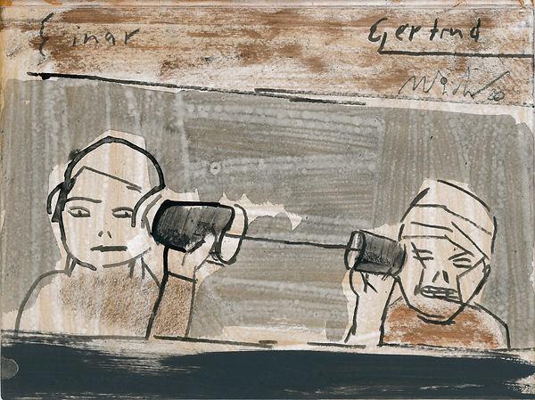 Christian Ulrich, Zeichnung, Einar und Gertrud