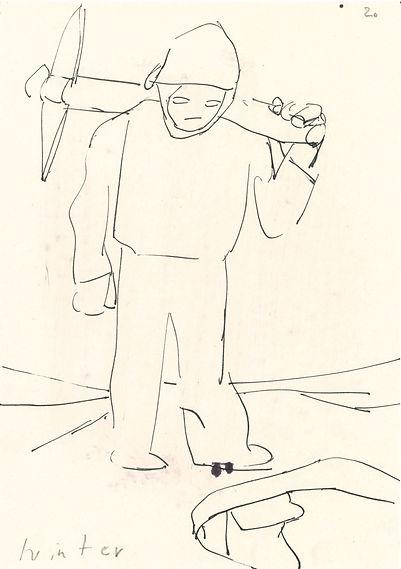 Christian Ulrich, Zeichnung, Winter