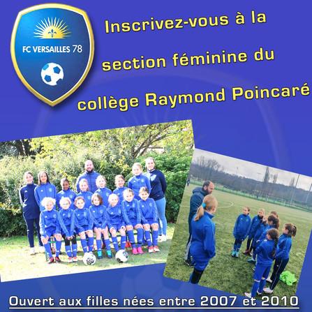 Présentation de la section sportive football féminin du Collège Poincaré