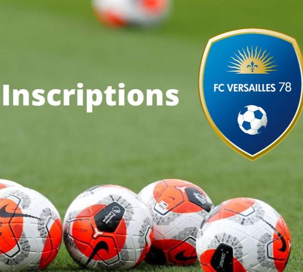Inscriptions pour la saison 2020-2021