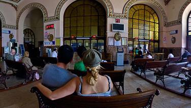 Inside Haydapasa railroad station
