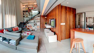 Sala e cozinha - duplex