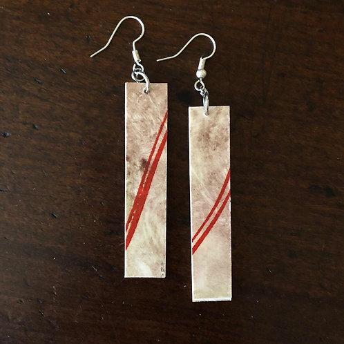 Pendant Earrings - fire stripe