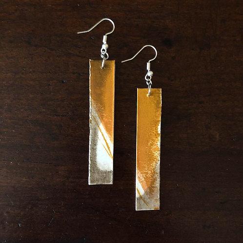 Pendant earrings - mustard/earth