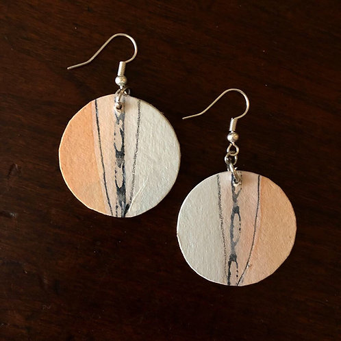 Disc earrings - sunrise