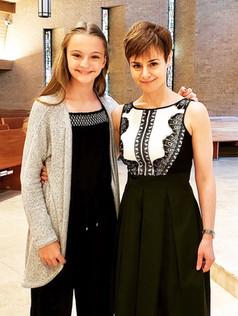 With Ella at studio recital (2018)