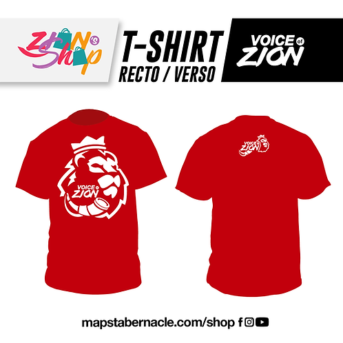 T-SHIRT COLLECTOR - ROUGE + LOGO BLANC