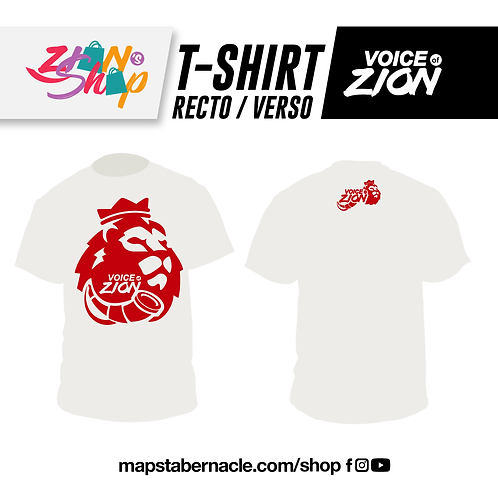T-SHIRT COLLECTOR - BLANC + LOGO ROUGE