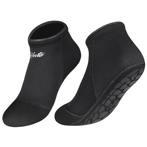 Hevto 3mm Neoprene Waterproof Black Low Cut Beach Diving Socks