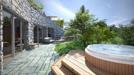 Erdhaus Terrasse 2
