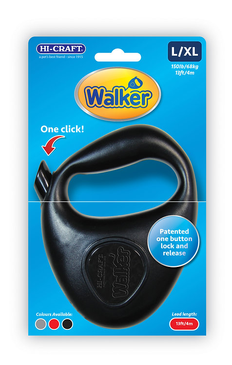 WALKER Retractable One Touch Dog Lead