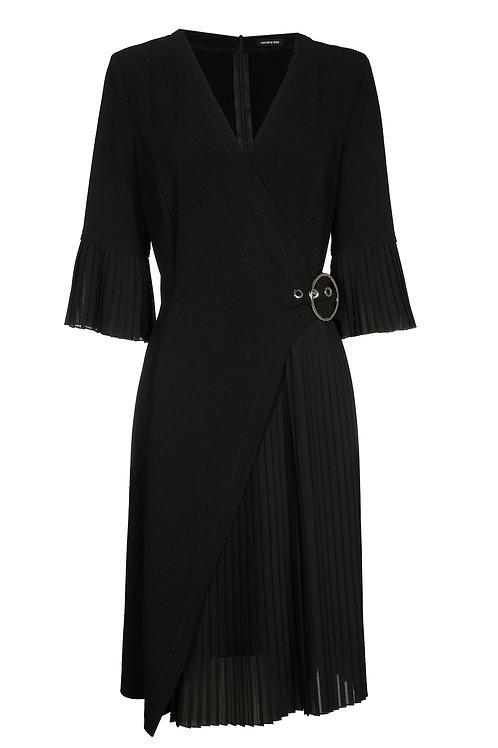CAROLINE BISS kleed met plissé detail