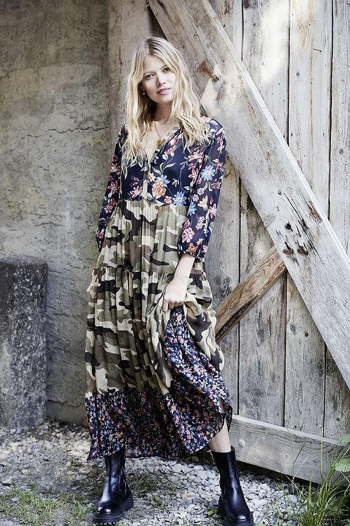 GRACE kleed CAMOUFLAGE/FLOWERS