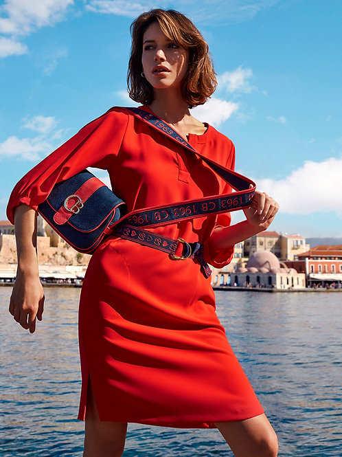 CAROLINE BISS kleed SPORTY-CHIC rood
