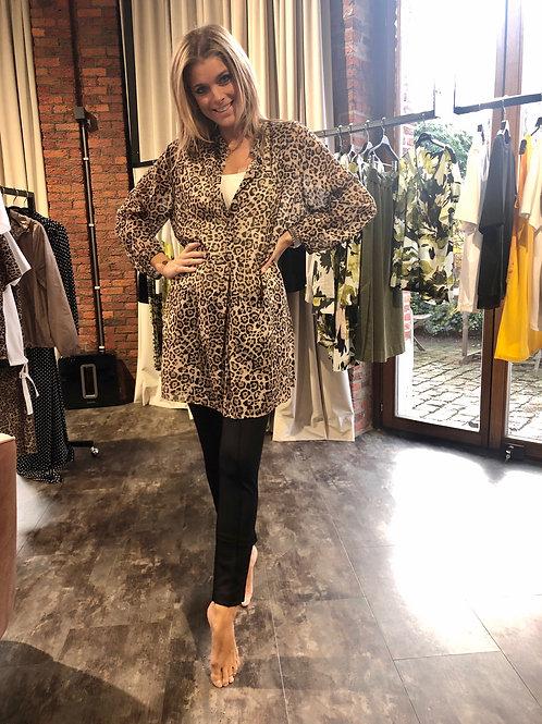 MARGITTES bloes met leopard print
