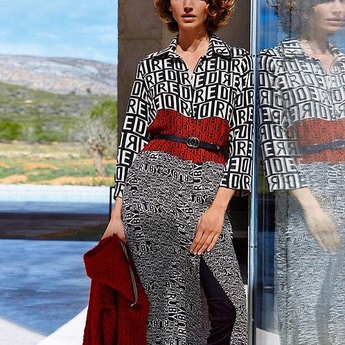 CAROLINE BISS hemdkleed met print