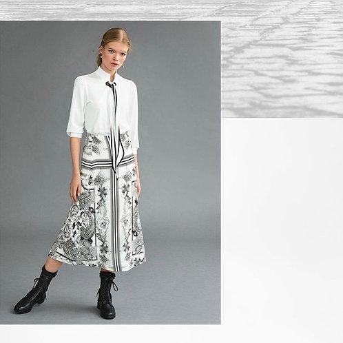 RIANI rok SCARF zwart/wit