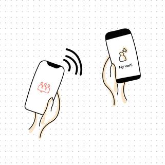 Illustration til Friendley App