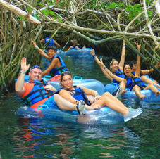 River Tubing in the mangroves in Mexico