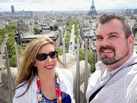 Finally Setting Eyes on the Eiffel Tower - Springtime in Paris