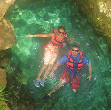 River Floating at Xcaret Park in Mexico