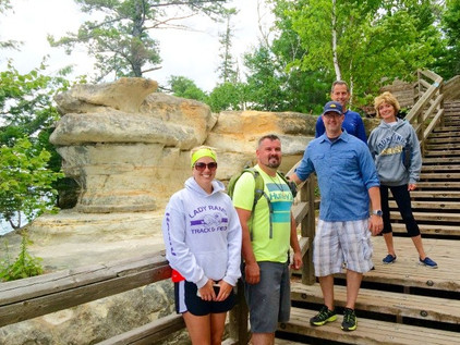 Family Camping Trip to Pictured Rocks in Munising, Michigan