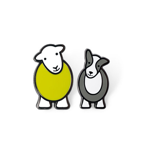 Herdy & Sheppy Pin Badge Set