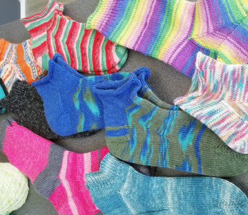 Socks Galore by Fiona H - Not sure of the patterns Fiona used but what an achievement!