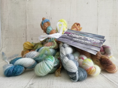 The beauty of hand-dyed yarn, and a few new things too!