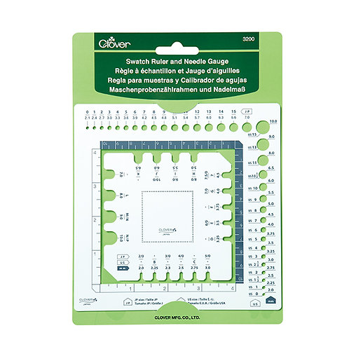 Swatch Ruler and Needle Gauge by Clover