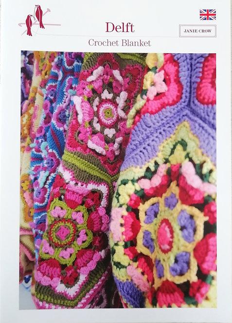 Delft Crochet Blanket by Janie Crow