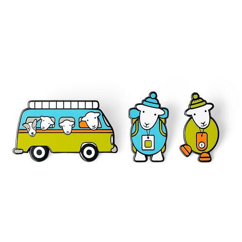 Adventure Herdy Pin Badge Set