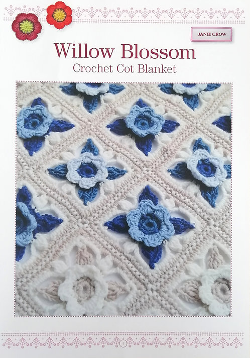 Willow Blossom Crochet Cot Blanket by Janie Crow