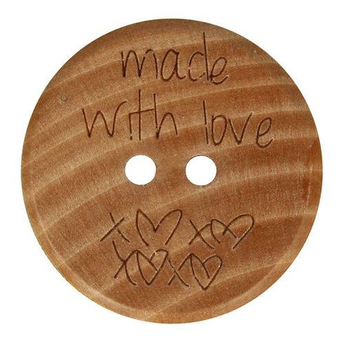 Wooden Message Buttons