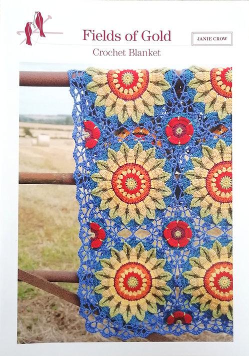 Fields of Gold Blanket by Janie Crow
