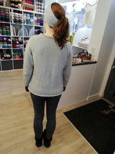 First sweater in Stonewashed X - I am ashamed to say I cannot remember the pattern nor the knitters name.... Sorry x