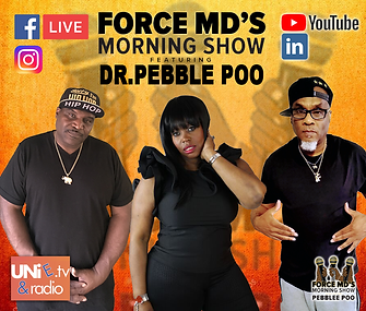 Force MDs Morning Show featuring Dr. Pebble Poo