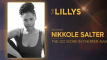 Nikkole receives the Stacey Mindich 'Go Work in Theater' Award