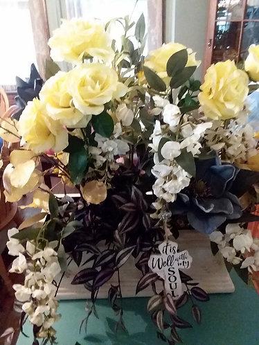 Silk Flowers Centerpiece