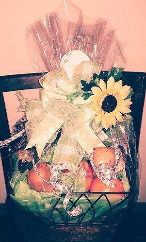 Fruit & chocolates gift basket
