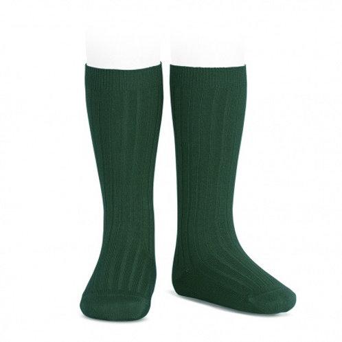 HIGH RIBBED SOCKS - GREEN