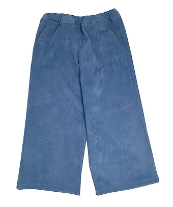 CROPPED CORDUROY PANTS - LIGHT BLUE