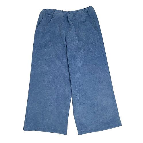 CROPPED CORDUROY PANTS - LIGHT BLUE