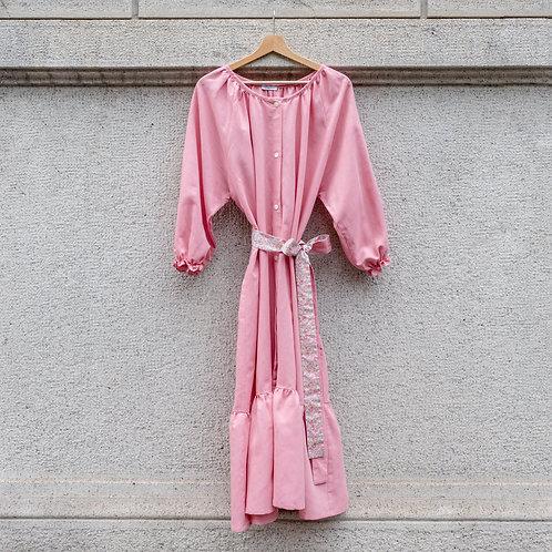ESTELLE WOMAN DRESS - Linocotton Pink