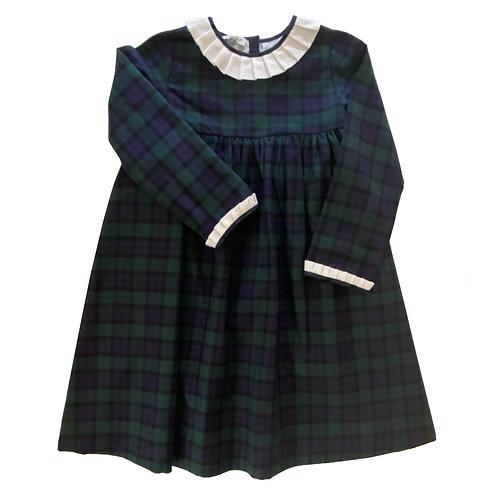 TRADITIONAL GREEN TARTAN DRESS