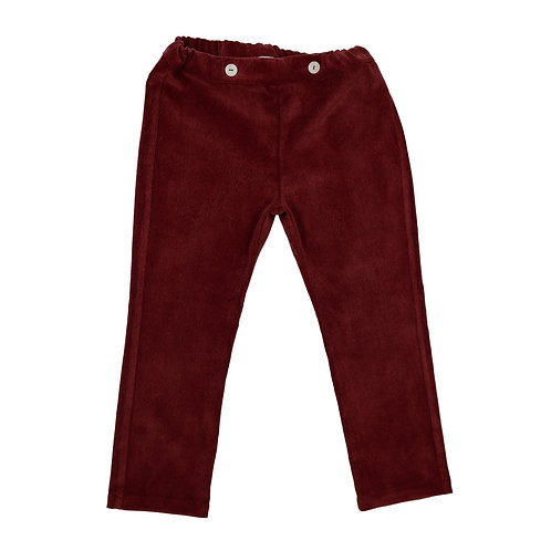 CORDUROY PANTS - BORDEAUX