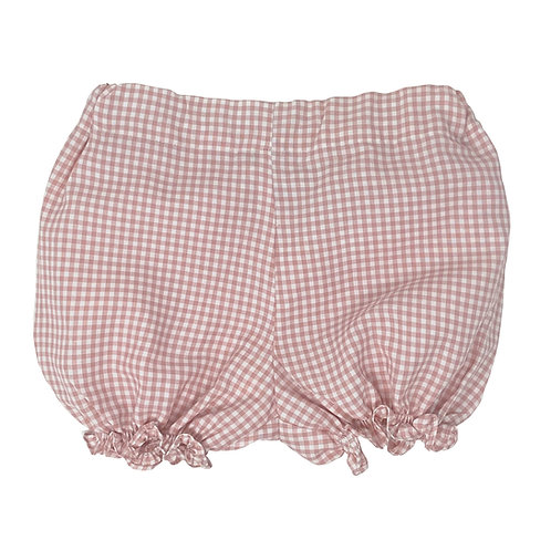 VICHY BLOOMERS PALE PINK