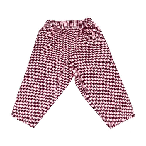 BABY PANTS -VICHY RED