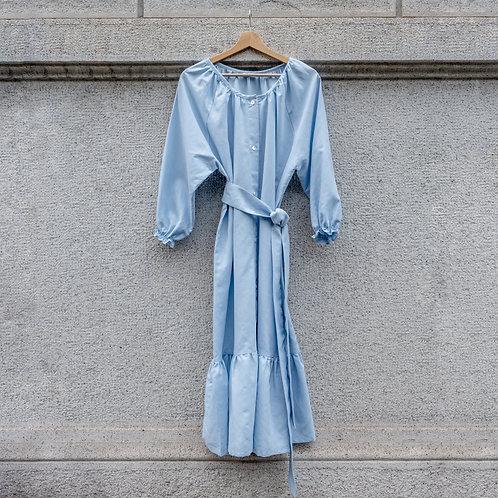 ESTELLE WOMAN DRESS - Linocotton Lightblue
